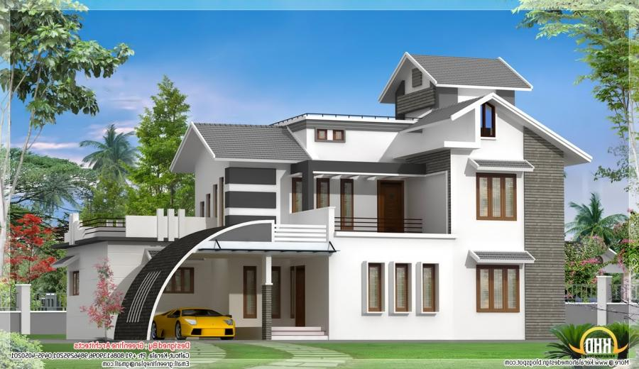 Indian simple house plans with photos for Indian modern home design images