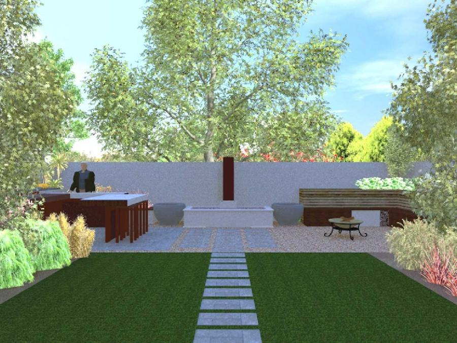 Landscape garden designs photos for Garden design 3d online