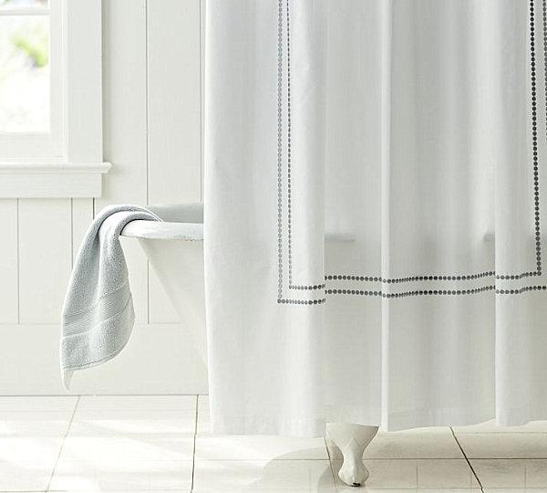 Pearl pattern shower curtain