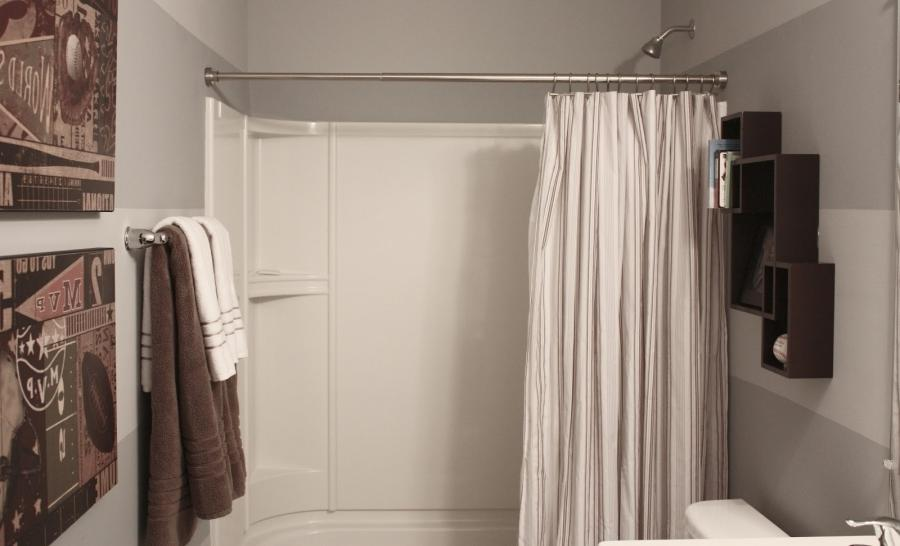 Photos of bathrooms with shower curtains for Bathroom ideas kohl s