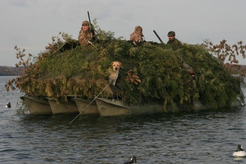 Duck Boats For Sale >> Pontoon duck blind photos