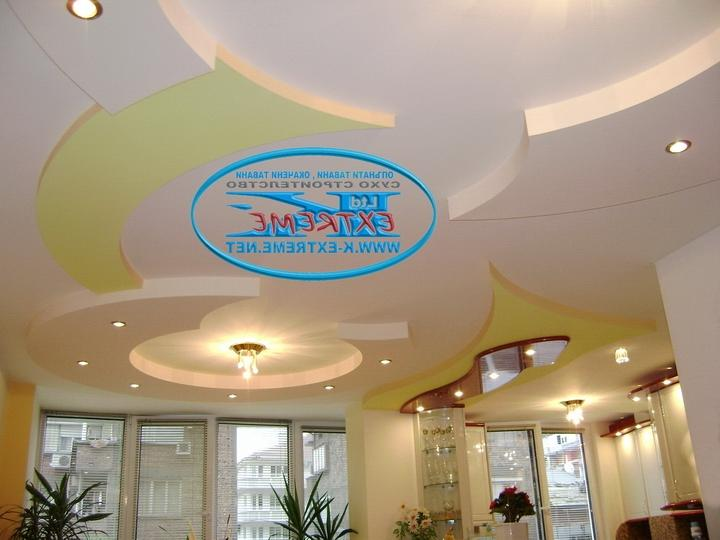 Drywall Ceiling With Plasterboard Figures
