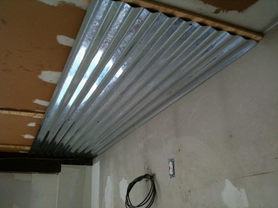 Corrugated metal ceiling floortin source