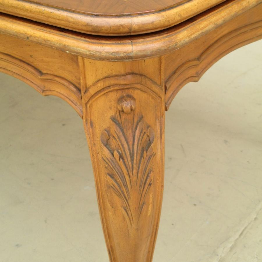 Vintage French Louis XV Dining Table with Leaves Vintage...