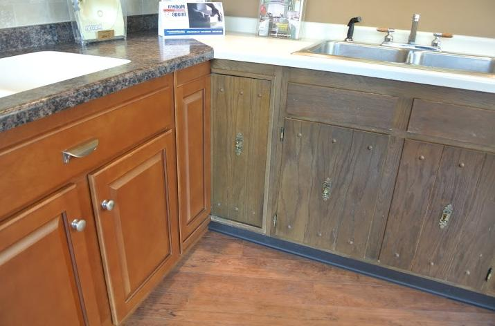 Photos of before and after refinished kitchen cabinets - Kitchen cabinet franchise ...
