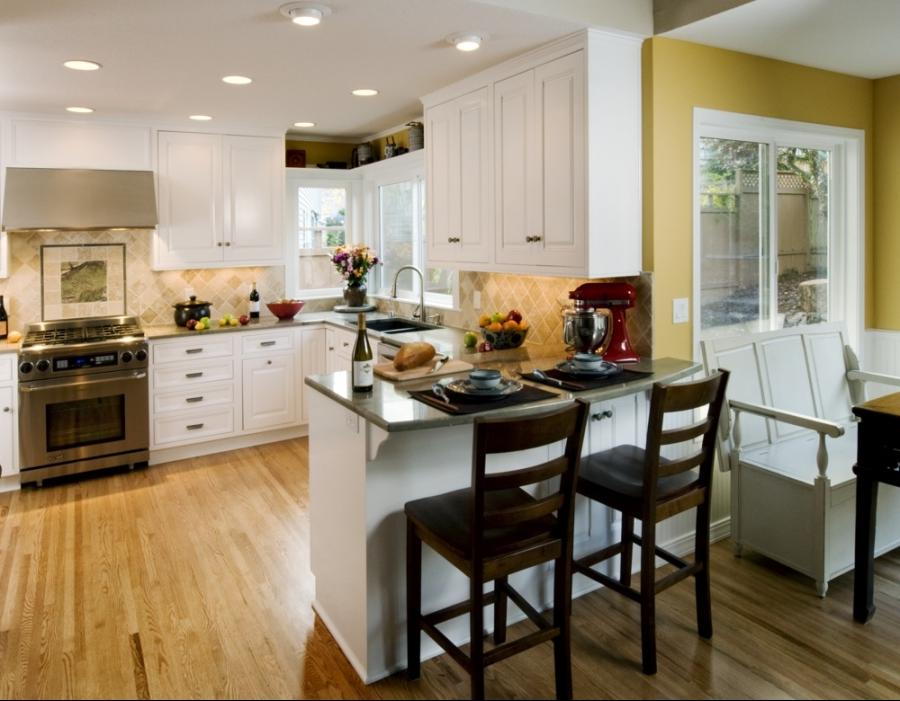 Natural Portland Kitchen Design White Cabinets With Sketchy...
