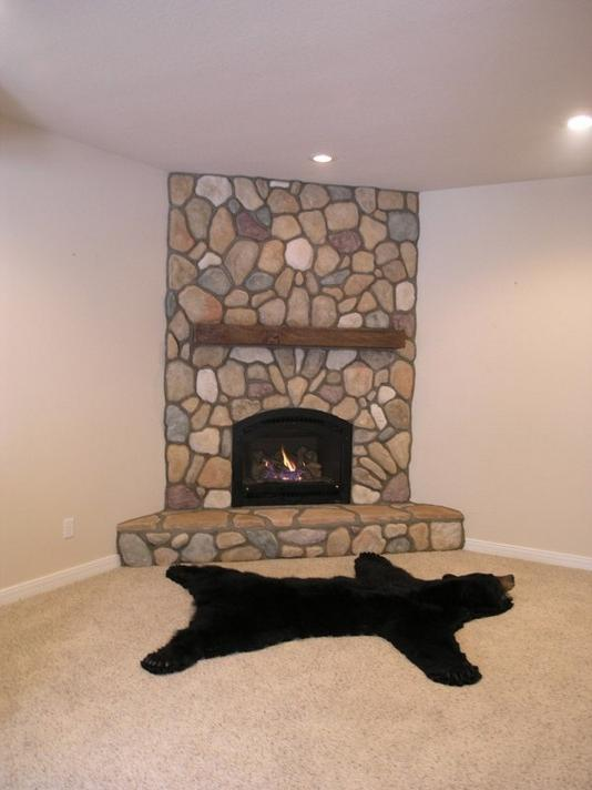 Corner fireplace design photos Corner rock fireplace designs