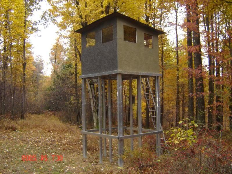 how to build a deer stand tower