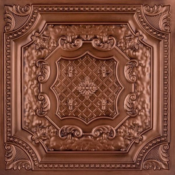 Faux Tin Ceiling Tile Antique Copper
