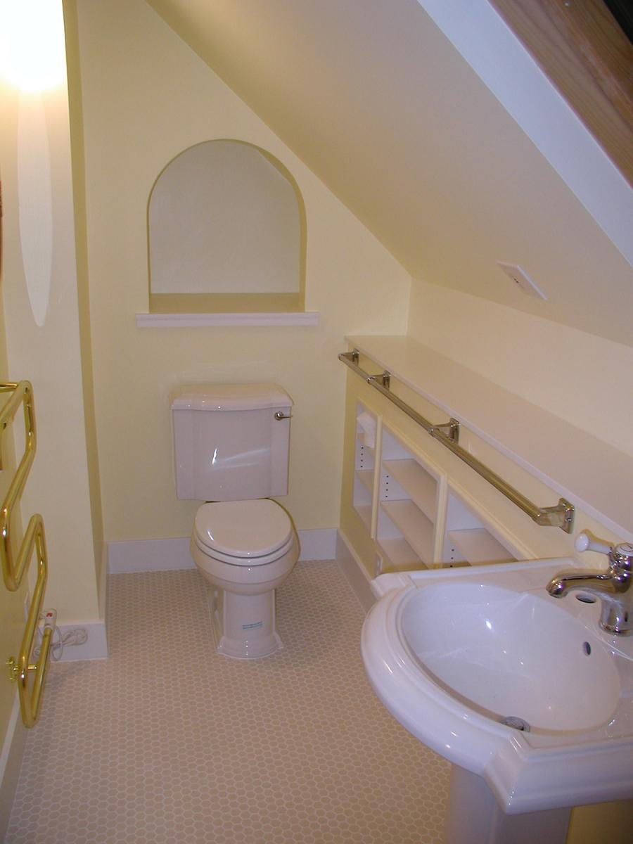 Attic space design for bathroom remodels