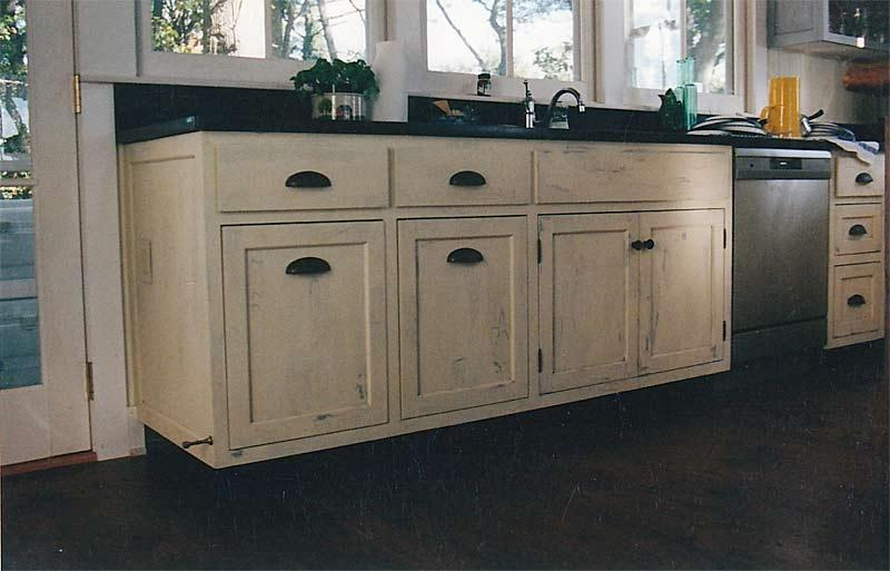 Distressed Finishes Make New Cabinetry Look Well Loved
