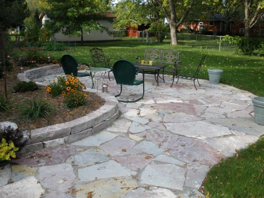 Rock Landscaping Underlayment : Stone garden paths stepping lanscape and