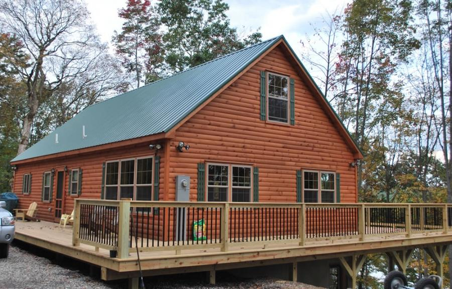 Log Cabin Vinyl Siding Photos