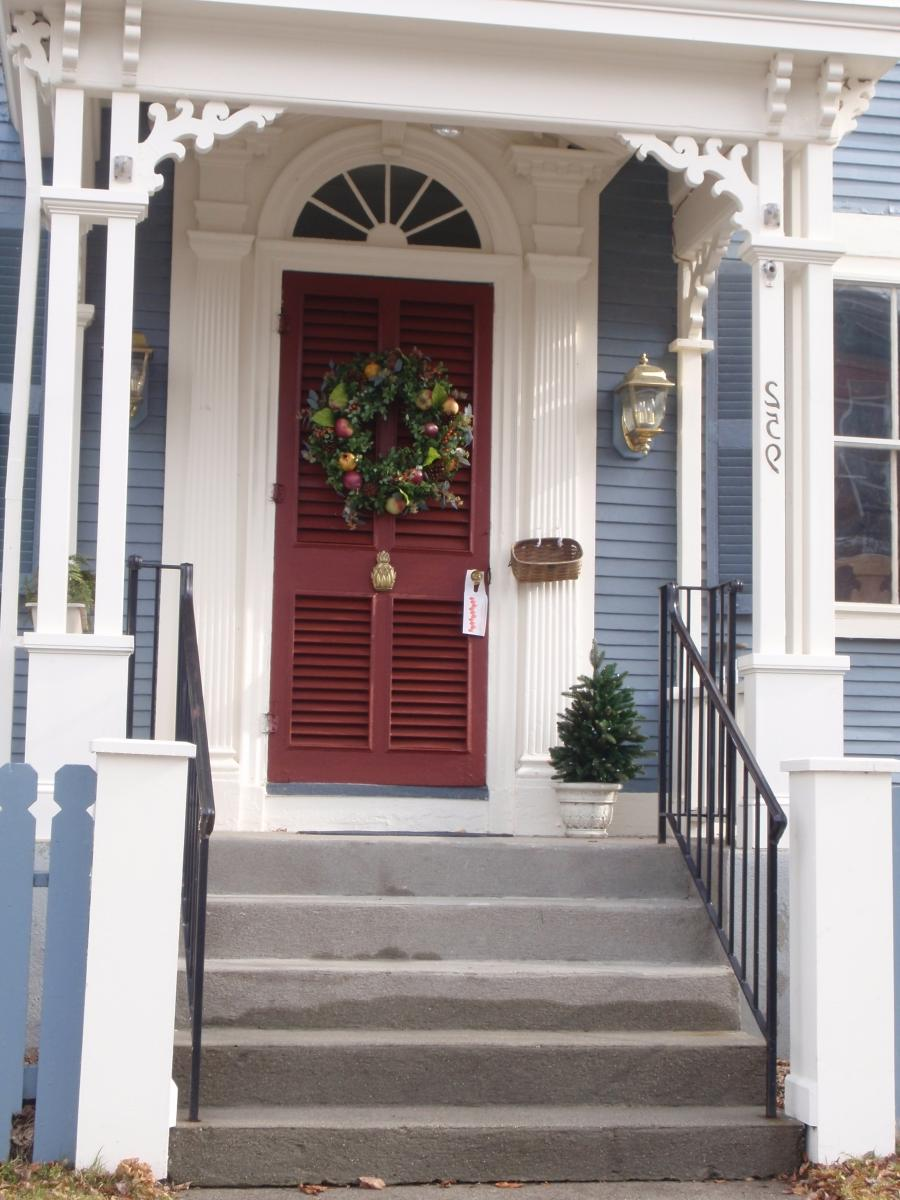 colonial house photo front door