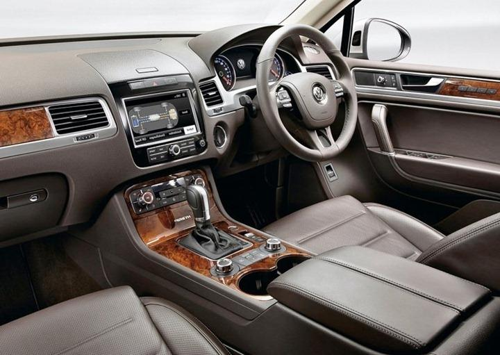 Volkswagen touareg india interior photos