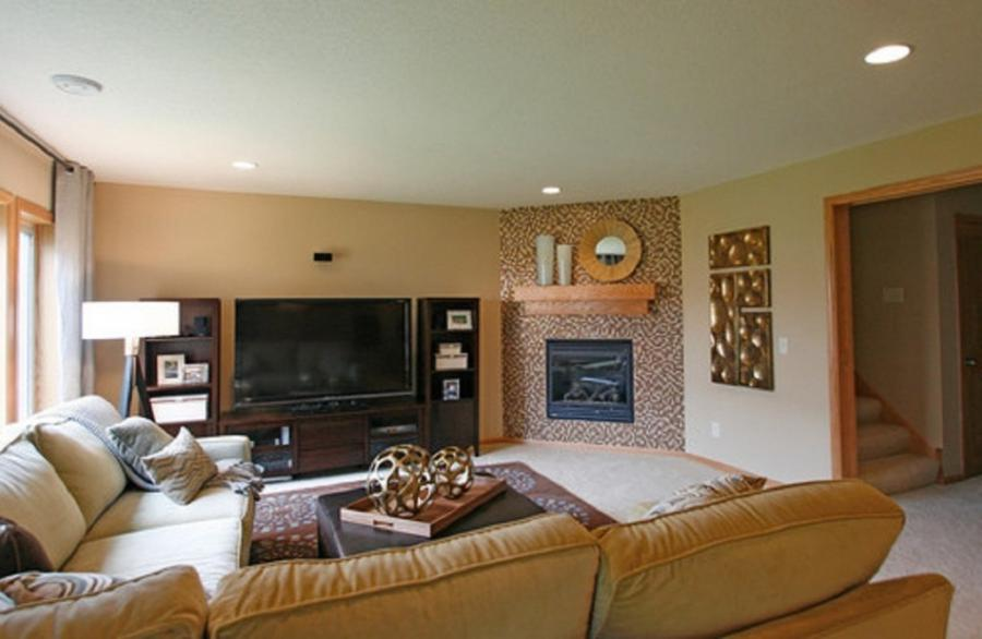 Awesome Corner Fireplace Design 1024x667 Create Corner Fireplace...