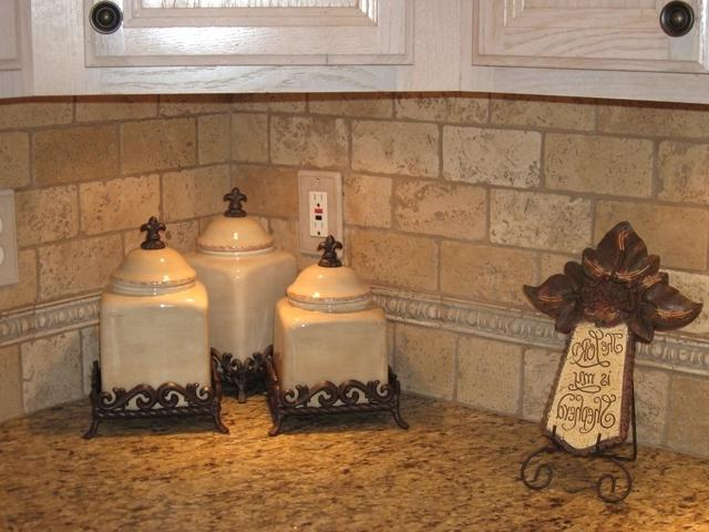 Travertine Tile Backsplash Photos