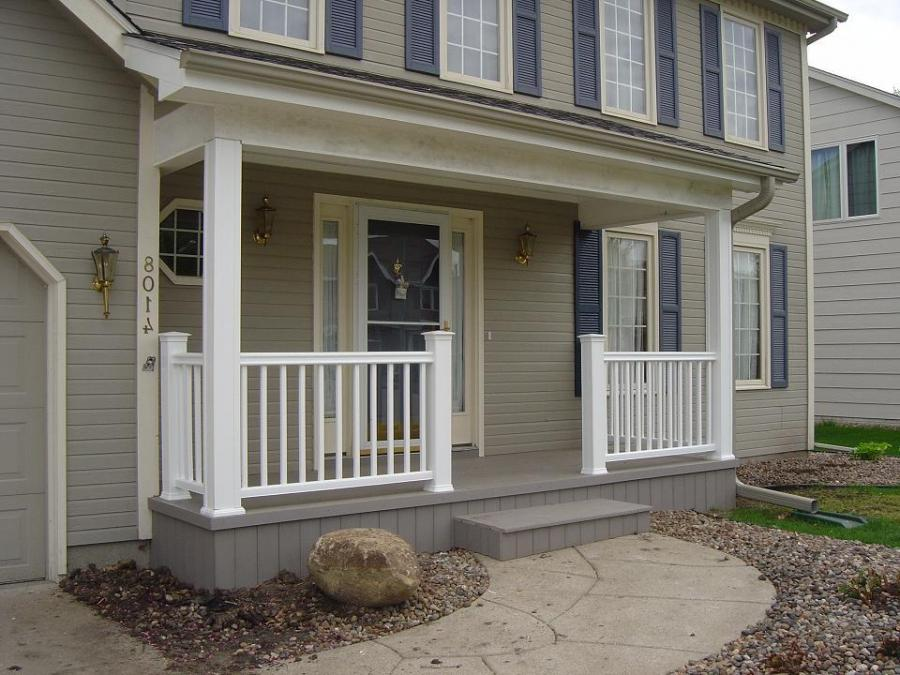 New Front Porch in Des Moines NW Urbandale Suburb