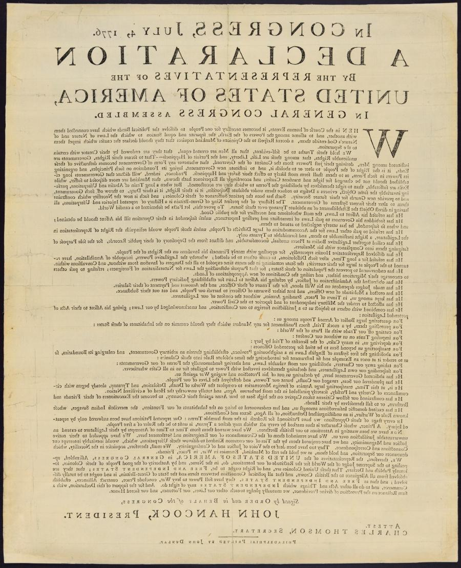 July 4, 1776: America Declares Independence from Great Britain