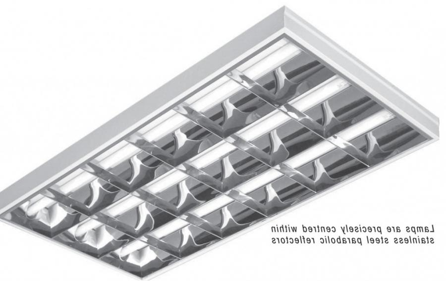 3.25u2033 Slim 18-cell parabolic fixtures fit shallow plenums....