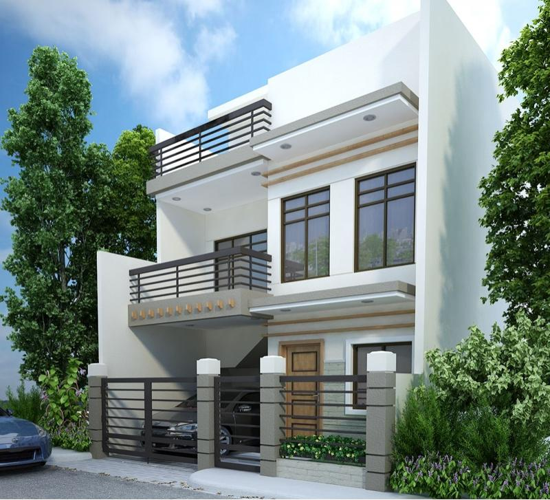 2 Storey Modern House Designs In The Philippines: Philippines 2 2 Story House Design With Balcony