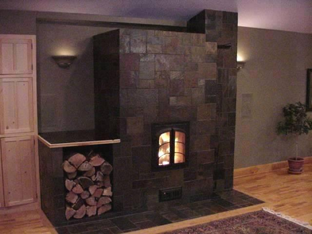 slate tile fireplace photos