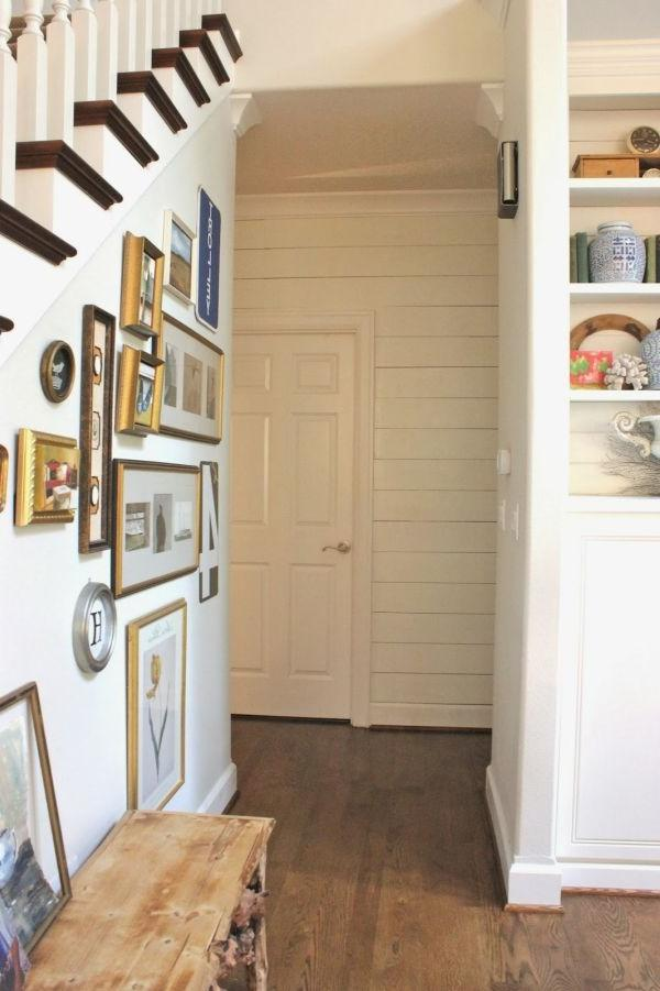 For a different take on the photo gallery hallway, go with a...
