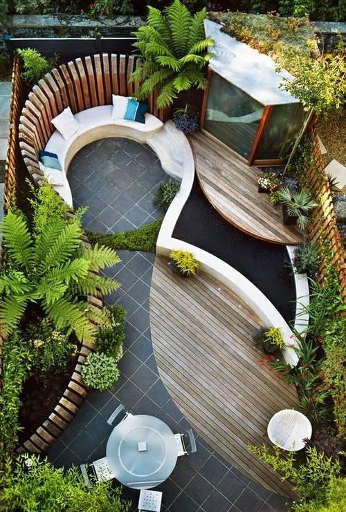 Landscaping and outdoor spaces / modern small garden
