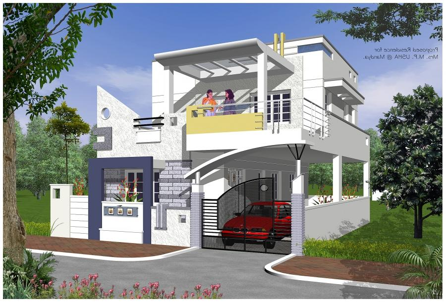 Beautiful house plans with photos in india for Beautiful home images in india