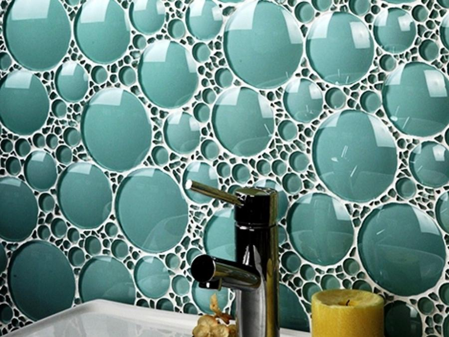 Bathroom tile wall