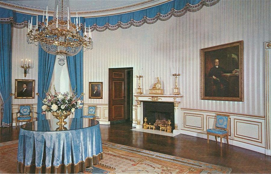 White House Blue Room Oval Office