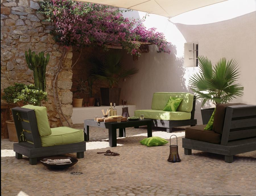 Photo decoration jardin terrasse - Mobilier deco jardin ...