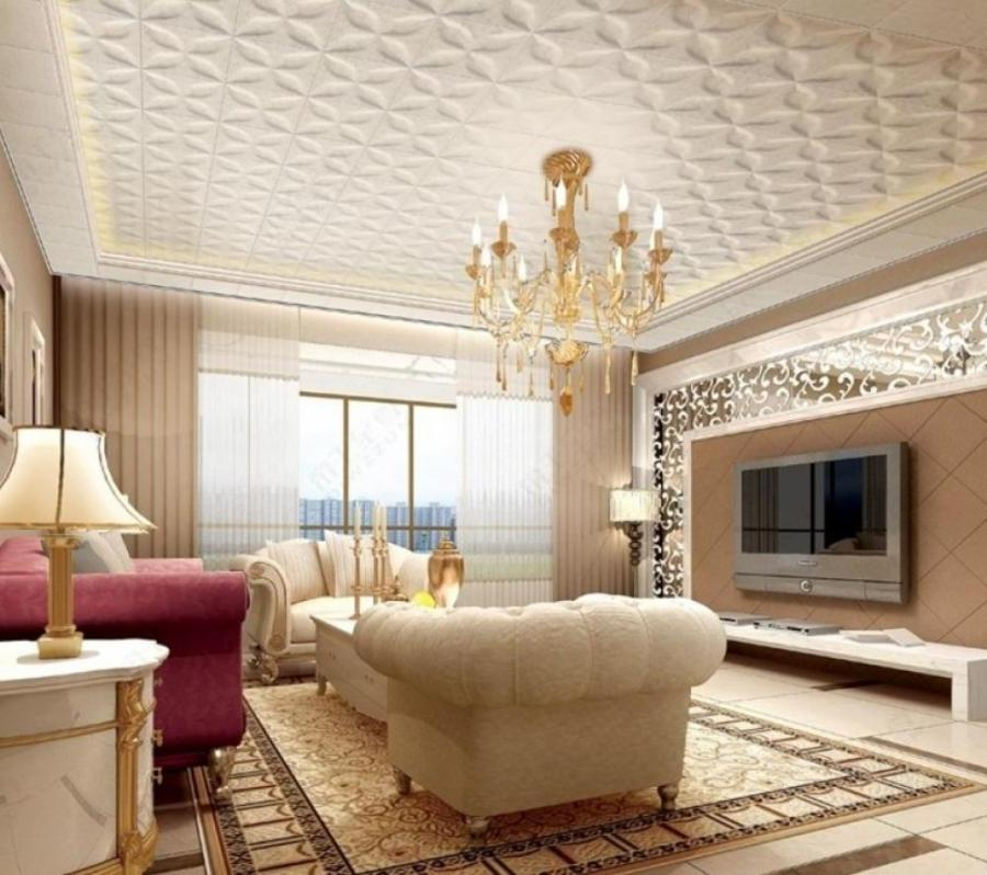 Living Room Design with Luxury Ceiling Ideas : Luxury Chandelier...