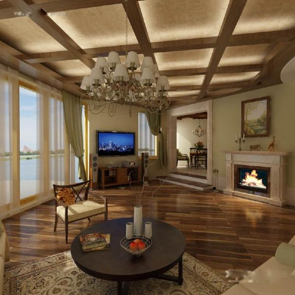 cool false ceiling designs for living room from wood and cloth