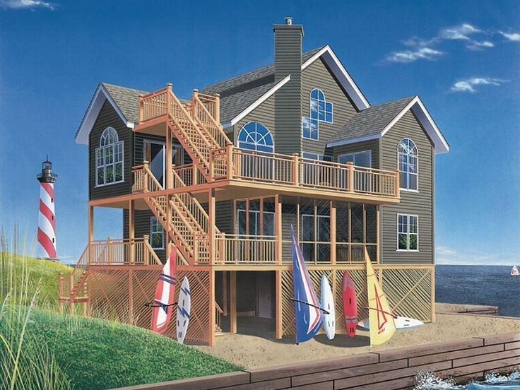 Waterfront house plans photos