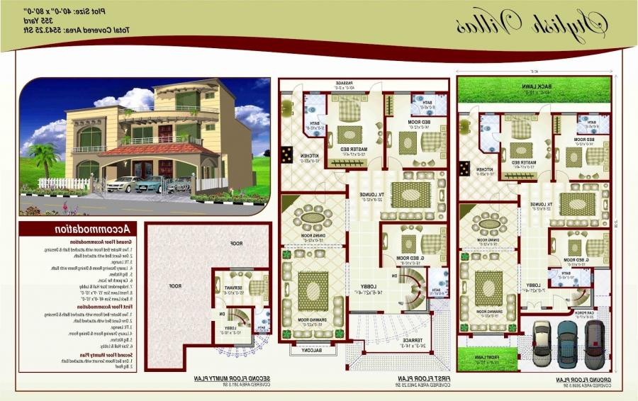 Pakistani house plans with photos for Pakistani house floor plans