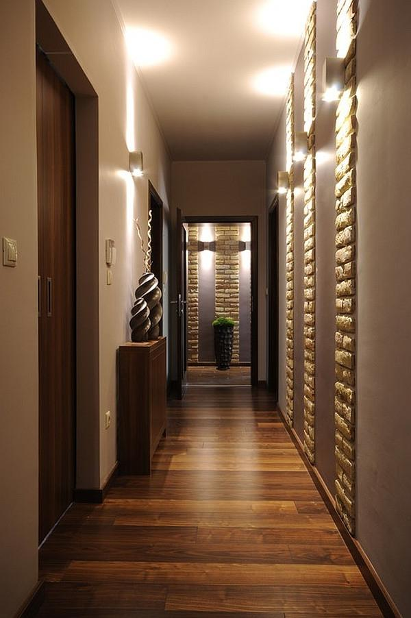 Model Homes Interior Design Hallway With Patterned Walls