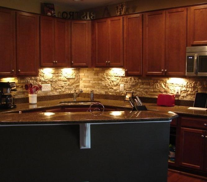 faux stone backsplash great ideas pinterest source
