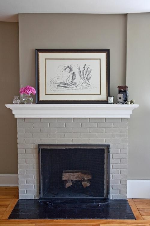 Grey Brick Fireplace Photos