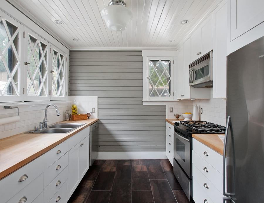 2930 Harvard Ave E Carriage House Kitchen Portage Bay Mid Century...