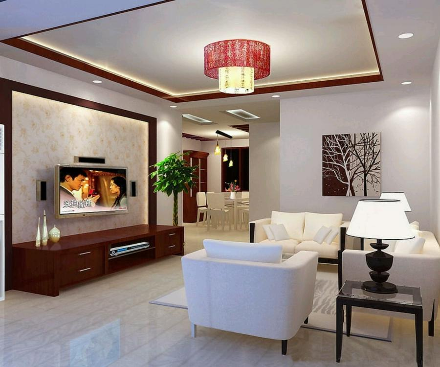 contemporary ceiling for living room interior with sofa furniture...