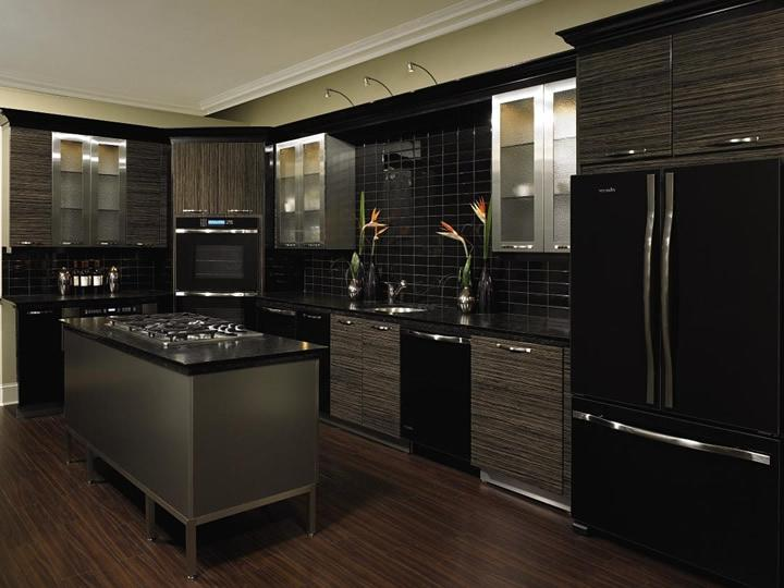 The Unexpected Stylish Look Of Black Kitchen Designs 13