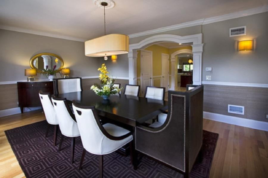 Chair rail hold photos - Dining room color ideas with chair rail ...