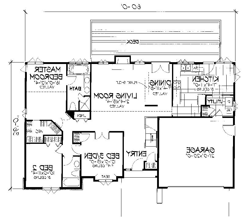 Cabin  Cottage House Plan First Floor - 072D-0666 | House Plans...