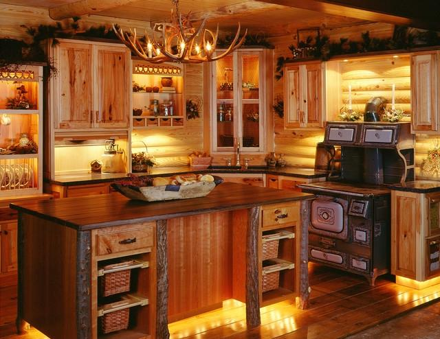Log Cabin Kitchens traditional-kitchen