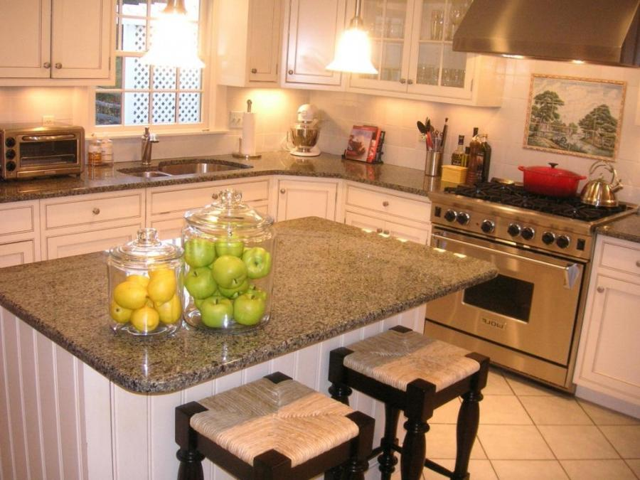 Wallpaper For Kitchen Countertops : Countertops for white cabinets photos
