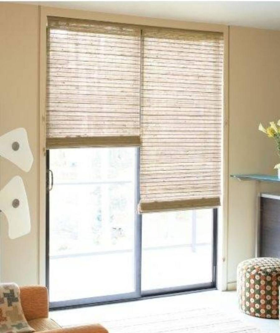 sliding patio door window treatments photos. Black Bedroom Furniture Sets. Home Design Ideas