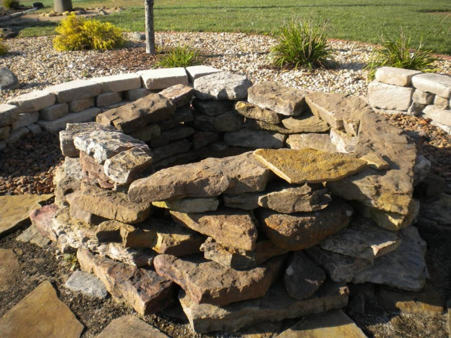 Fire Pit- 3 ft. Natural Stone Fire Pit