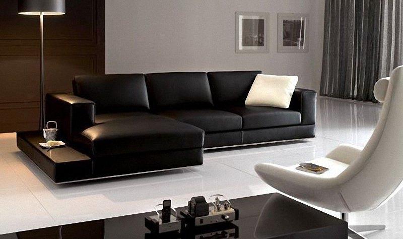 black leather sofa motiq online home decorating ideas source