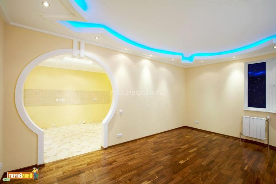 Design ceiling with lights